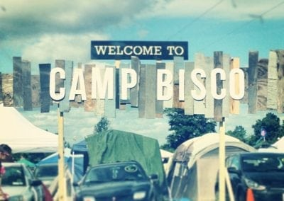 Camp Bisco Welcome Sign