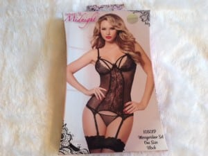 Seven 'Til Midnight's Double Dare Sheer Basque and G-String Set