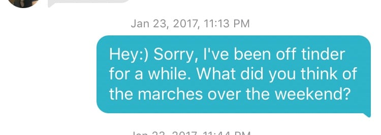 I Asked Guys on Tinder About the Women's March