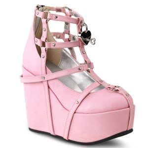 Pastel Goth Caged Heart Platform Heels Review