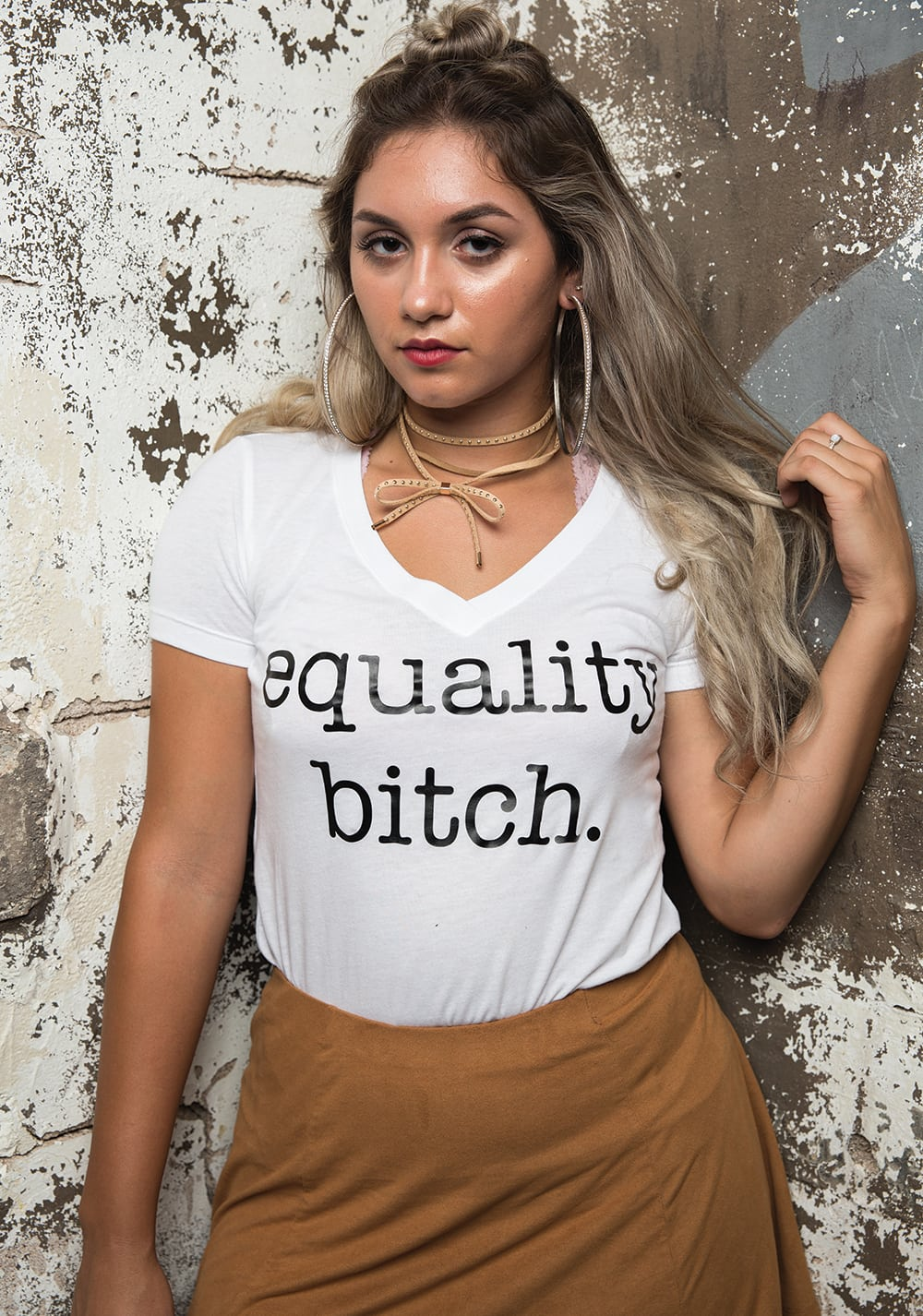 """Identity of She """"Feminist AF"""" Tank Top"""