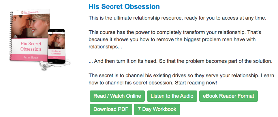 his secret obsession online course